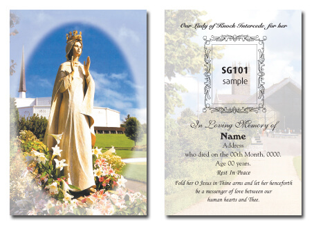 Single Memorial Cards
