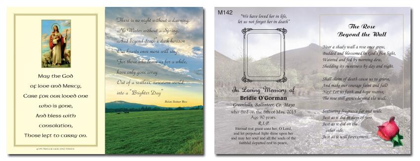 Standard Memorial Cards